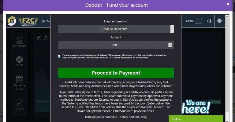 metody płatności minimalny depozyt wpłata