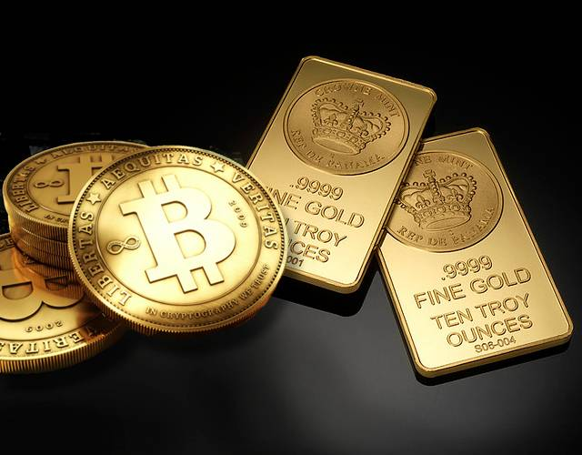 Image result for gold and bitcoin