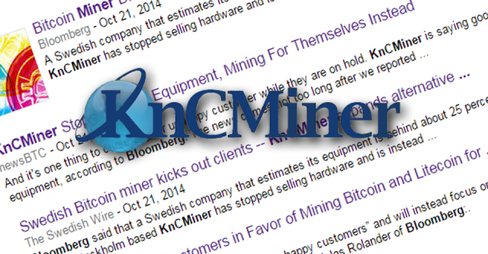 KnCMiner Denies Abandoning Customers Though Admits It Will Mine for Its Own Benefit; Possible Lawsuits Loom
