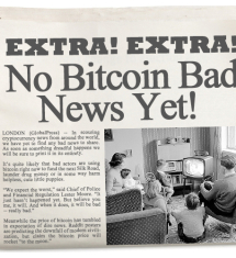 Reporting Bitcoin Bad News