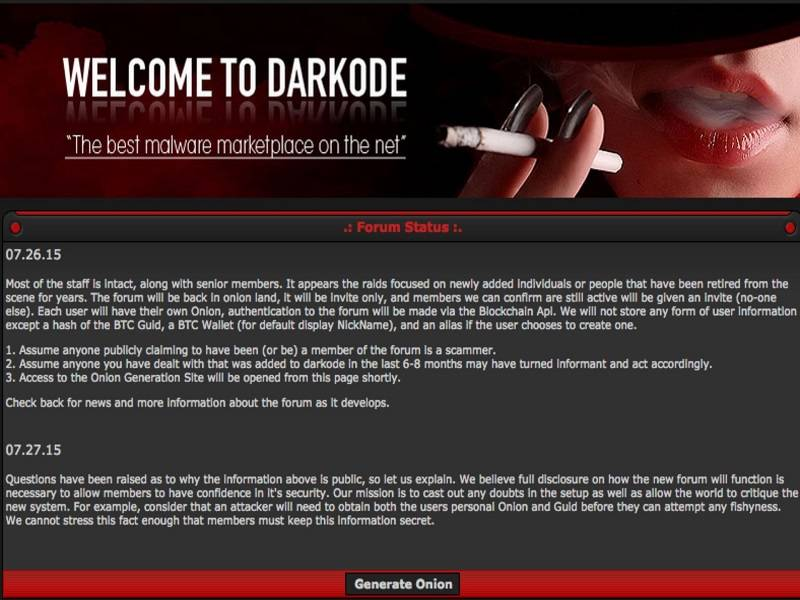 Darkode Rises Again, Bitcoin Authentication Now Enabled
