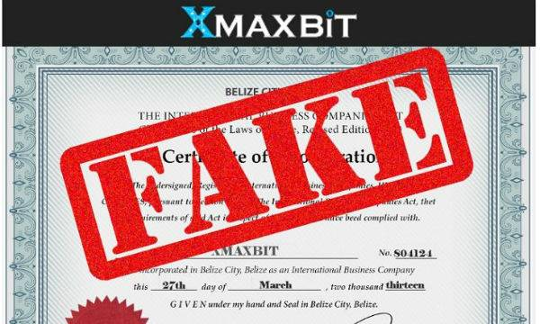 Bitcoin and Forex Investment Firm Xmaxbit Showing Forged Corporate Documents: IFSC