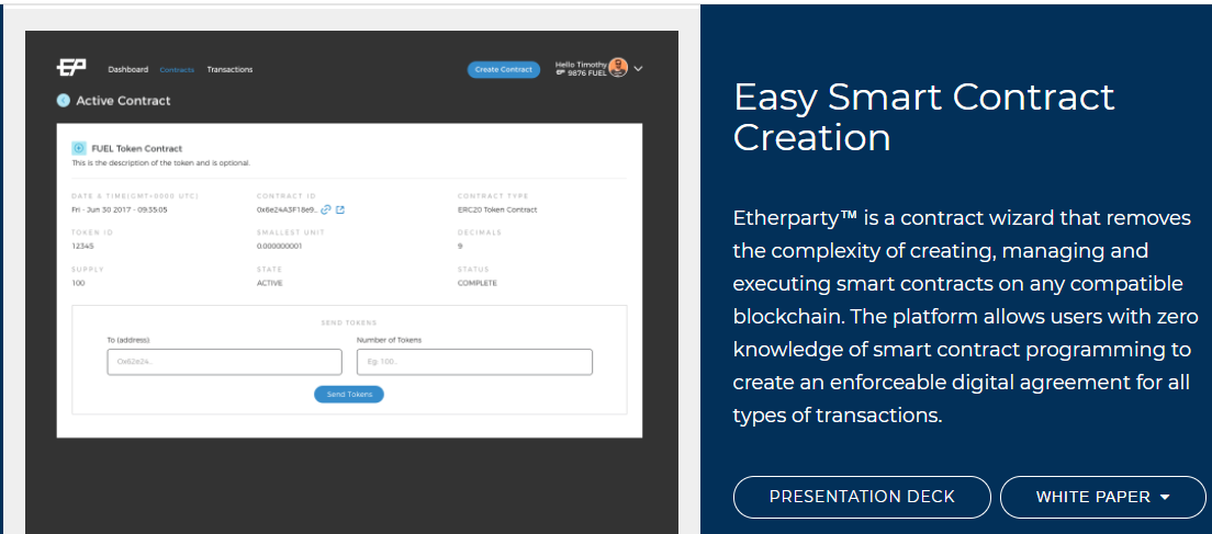 EtherParty Poised to Capitalize on the Coming Smart Contract Explosion