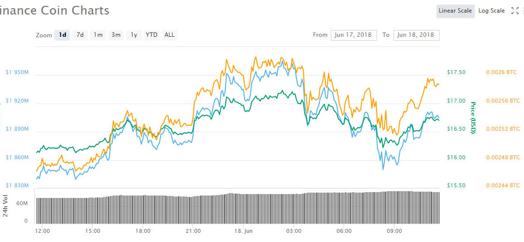 Cryptocurrency Market Update: Binance Coin (BNB) Bucking the Trend