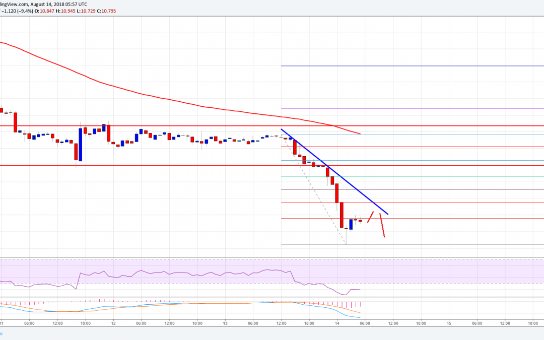 Ethereum Classic Price Analysis: Can ETC/USD Hold The $10.00 Support?