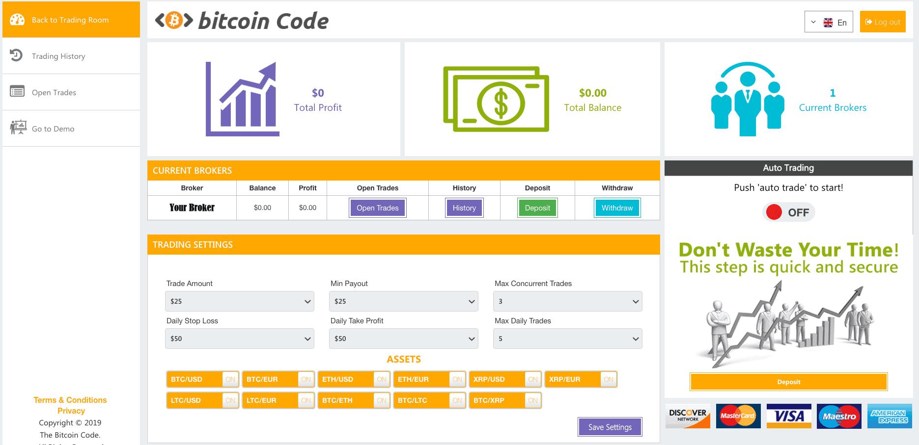 Bitcoin Code Robot platform