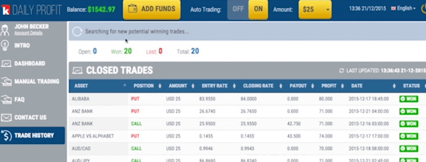 deposit funds binary options
