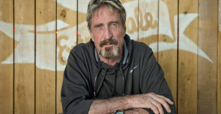 John McAfee Releases His Own Cryptocurrency Debit Card