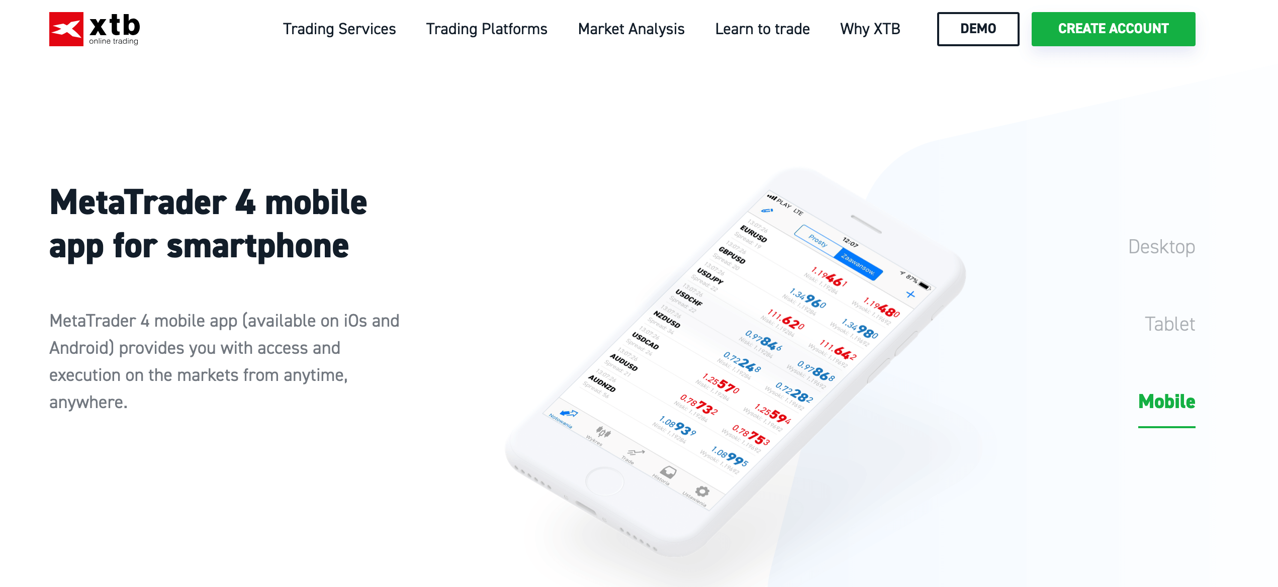 XTB Mobile App