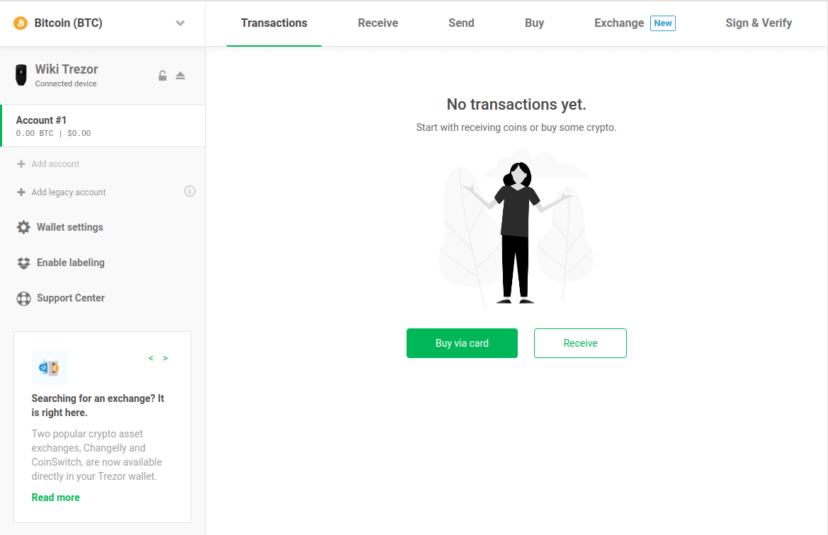 how to recieve other cryptocurrencies on trezor