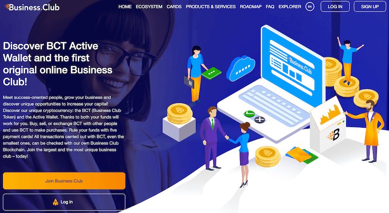 Business Club Homepage
