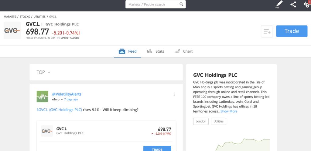GVC eToro trade