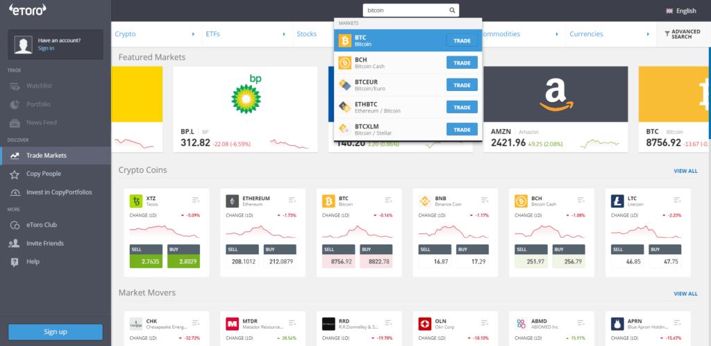 etoro search bitcoin