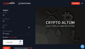 cryptoaltum sign up