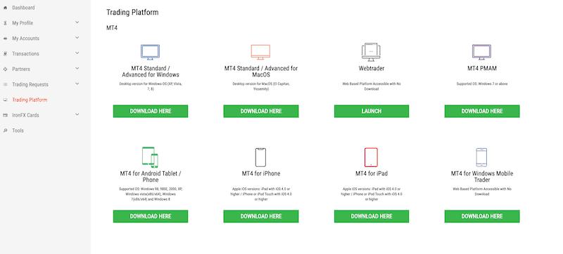 IronFX choose a platform
