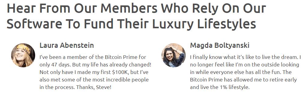 bitcoin prime testimonials