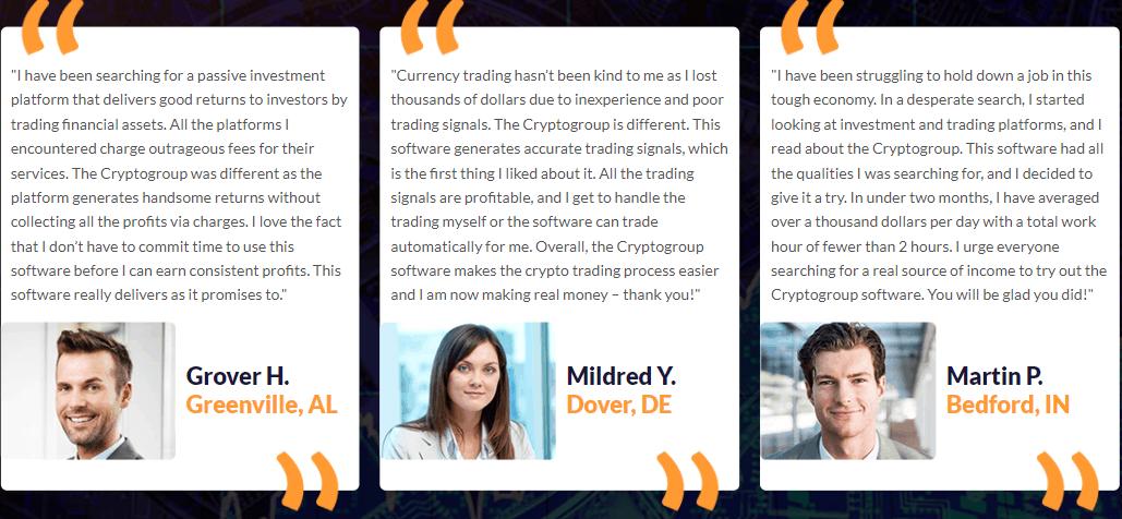 crypto group testimonials