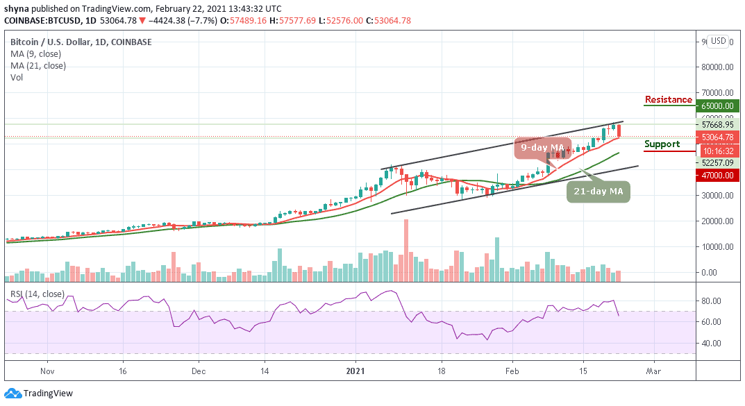 Bitcoin Price Prediction: BTC/USD Briefly Falls Below $57,500; Is that all for Bulls?