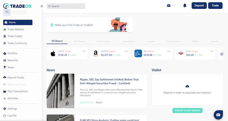 TradeOr Trading Platform