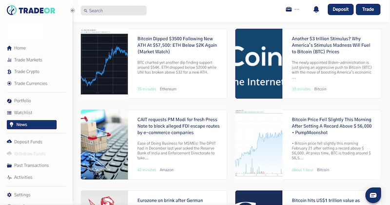TradeOr news section