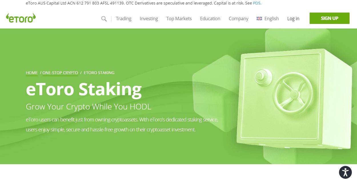 eToro staking best cardano staking platforms
