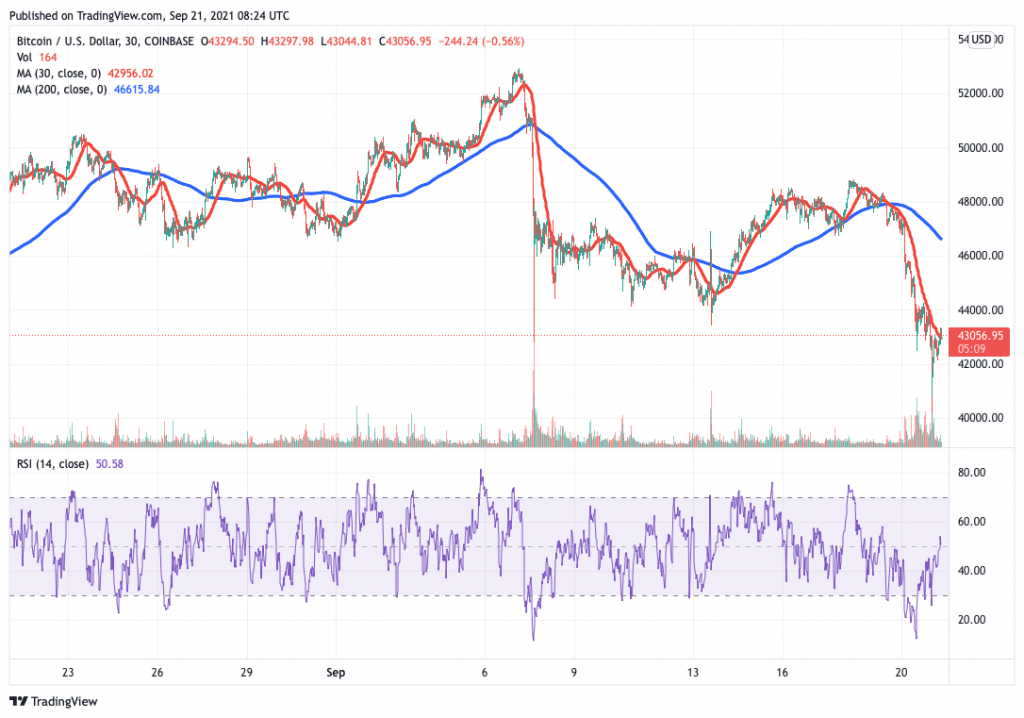Bitcoin (BTC) price chart - 5 best cryptocurrency to buy on low prices.