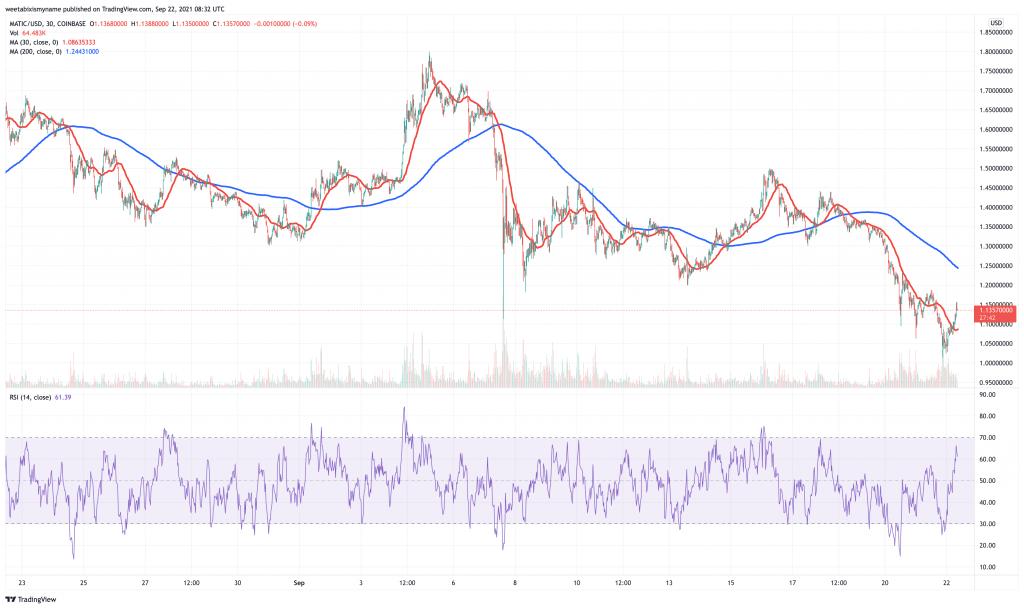Polygon (MATIC) price chart.
