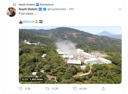 President Bukele Tweet Sep 29