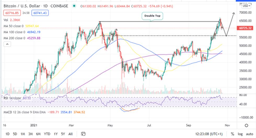 Bitcoin Price Daily Chart
